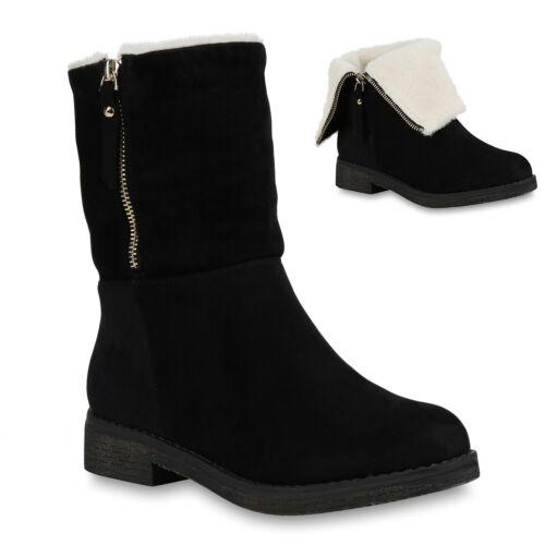 Klassische Damen Stiefeletten Boots Stiefel Schuhe 895779 Trendy