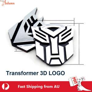 Transformer Alloy Decal Sticker Logo Autobot Decepticon Metal Car Deco TF 4 Type