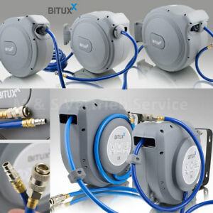 BITUXX-Druckluftschlauchtrommel-mit-Automatik-Schlauchaufroller-Wandmontage
