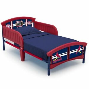 Kids Plastic Toddler Bed MLB St. Louis Cardinals Theme Bedroom Home ...