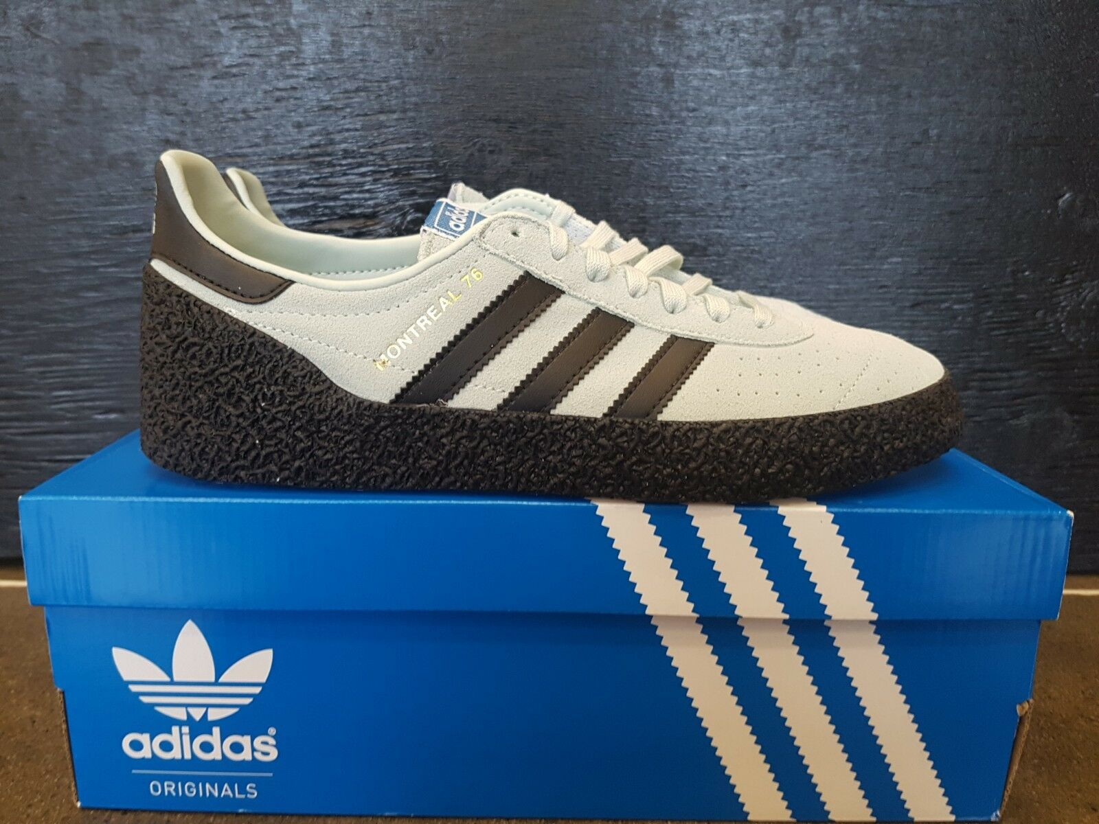 finest selection 7cb36 eae21 NEW IN THE BOX ADIDAS MONTREAL 76 BD7634 VAPGRN BLACK SHOES FOR MEN