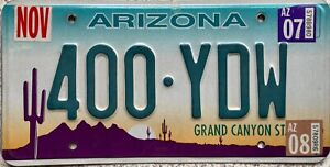 GENUINE-Arizona-Grand-Canyon-State-USA-Pressed-License-Number-Plate-Tag-400-YDW