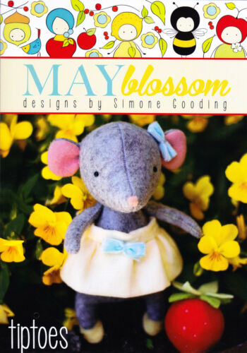 PATTERN May Blossom cute wool felt mouse softie//toy PATTERN Tiptoes