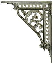 "1x Large Iron Victorian Trellis Wall Shelf Bracket antique sink cistern 12"" 30cm"