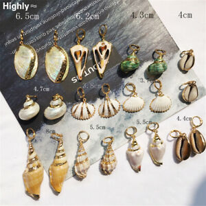 Fashion-Women-Natural-Pearl-Shell-Conch-Statement-Dangle-Drop-Earrings-Jewelry