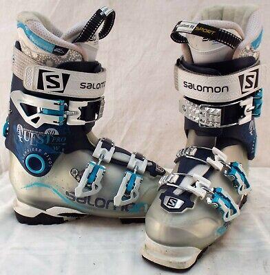 Used Ski Boots >> Salomon Quest Pro 80 Used Women S Ski Boots Size 23 5 633389 Ebay