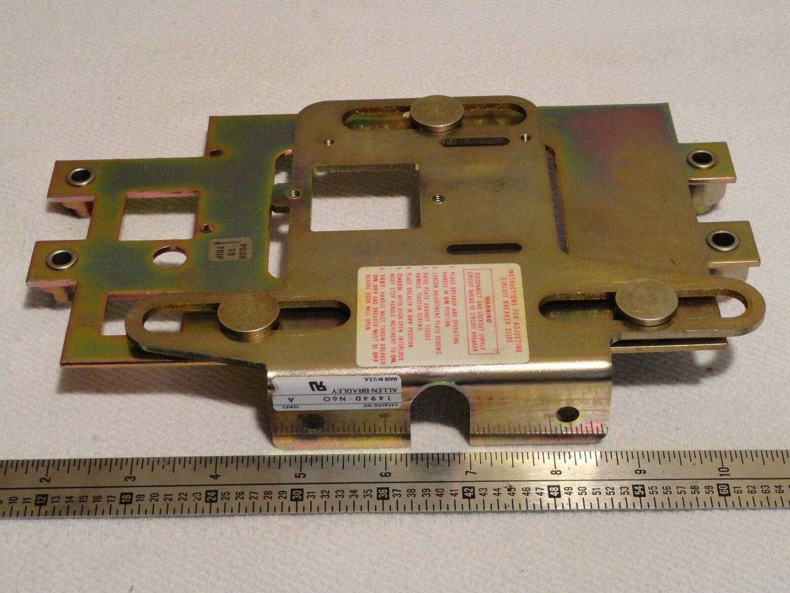 Allen Bradley Slide Mechanism For Circuit Breaker 1494d N60 Ebay Breakers In The Off Position Without Locking Out An Entire Norton Secured Powered By Verisign