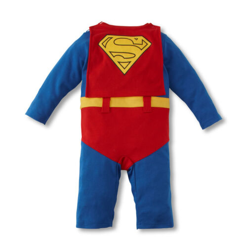 BABY Toddler Fancy Dress Party longsleeves costumi Superman taglia 3-24months