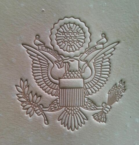 US Passport Arm Embossing Plates for stamping Veg Tan Tooling Leather