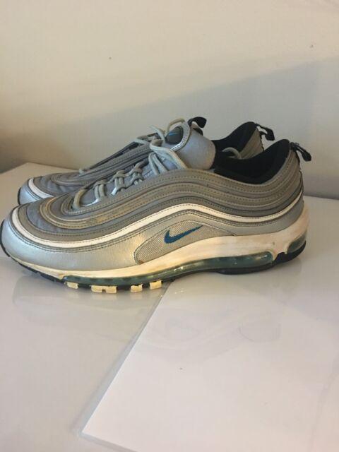 Nike Air Max 97 Marina Blue Metallic Silver Bullet 312641 015 Size10 (2009)