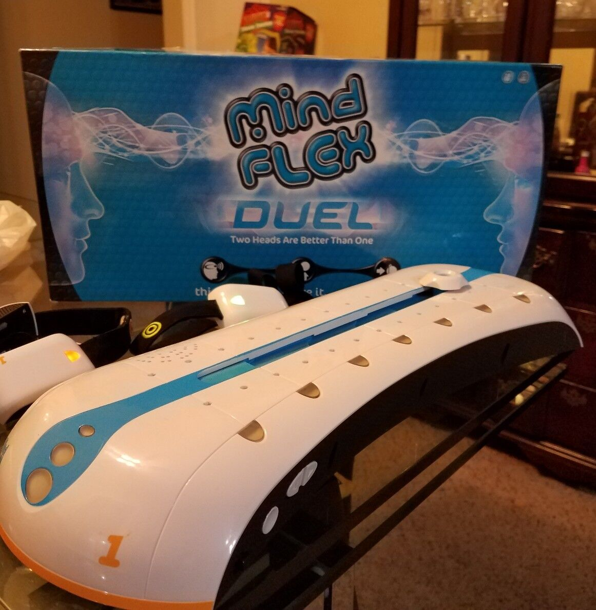 Mind Flex Duel Two Heads Are Better Than One Mattel 1-2 Player Game