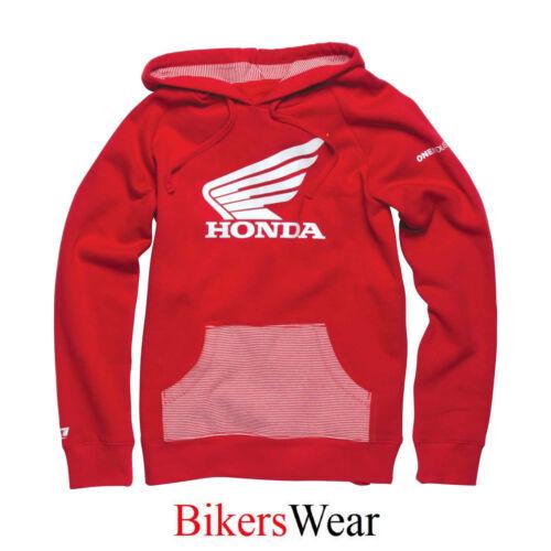 Casual Rosso Honda Felpa con cappuccio-One Industries Sharp Rosso Ragazze Donna Felpa Con Cappuccio Donna