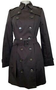 BURBERRY LONDON 'SANDRINGHAM' MID-LENGTH BLACK TRENCH COAT, 4, $2550