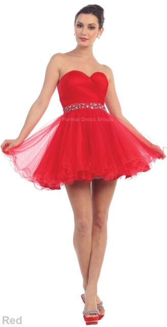 d76bab2271 NEW SWEETHEART PROM DRESS HOMECOMING SEMI FORMAL COCKTAIL CORSET BACK UNDER   100