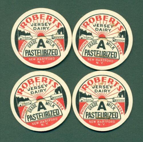 N.Y ROBERTS JERSEY DAIRY NEW HARTFORD 4 Milk Bottle Caps