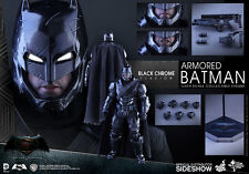 Armored Batman  chrome version Dawn Of Justice 1/6  Hot Toys Sideshow  Hot mib!