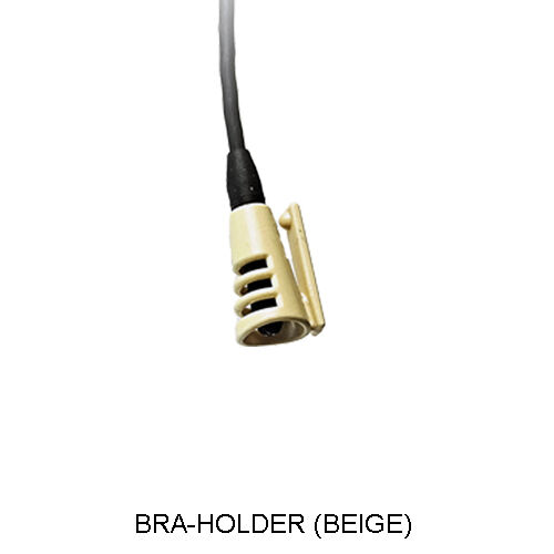 BEIGE HIDE-A-MIC BRA-HOLDER MICROPHONE CONCEALER FOR THE SANKEN COS11