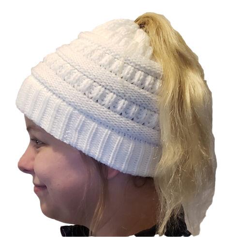 CC quality ponytail beanie messy bun soft and warm