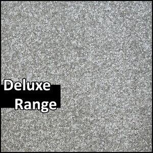 ON-TREND Soft Feel Grey Silver Twist Pile Action Back 4m Wide Carpet Remnants