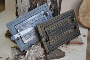 25-5-x-17-Cast-iron-fire-door-clay-stove-bread-oven-Chimney-Clean-Out-DZ067