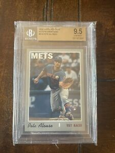 PETE ALONSO 2019 TOPPS HERITAGE ACTION VARIATION ROOKIE CARD BGS GEM MINT 9.5