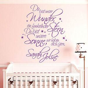 10932 Wandtattoo Loft Du bist unser Wunder Mädchen Name Kinderzimmer ...
