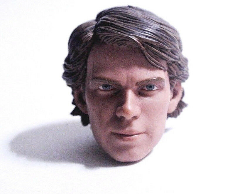 1/6 scale Sideshow Star Wars CLONE WARS Anakin Skywalker Head Sculpt Hot toys 12
