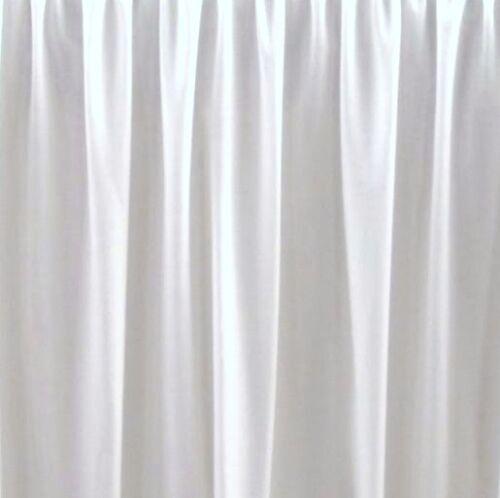 """18 /""""   FULL WHITE DUST RUFFLE OR BED SKIRT SPLIT CORNERS made in usa"""