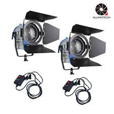 2000W+dimmer*2 Fresnel Tungsten Spotlight Lighting Studio Video+Barndor camera
