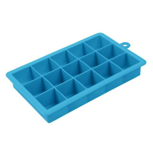 15 Silicone Brick Chocolate Molds Jelly Baking Square Cake Moulds Ice Cube Tray