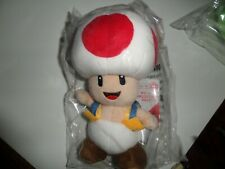 """Super Mario Bros Toad Red Plush All Star Collection 8/"""" Little Buddy Toys"""