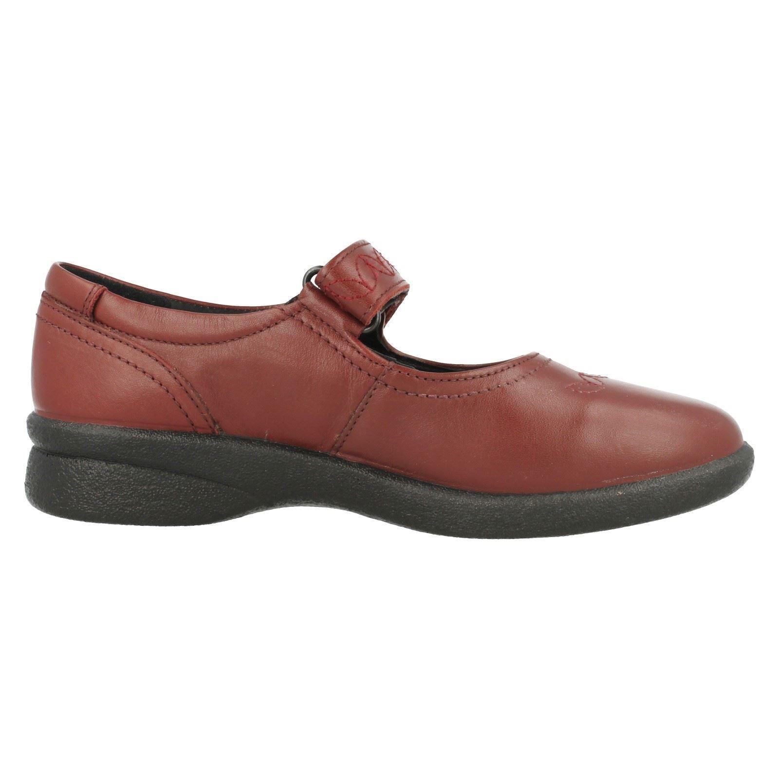 Zapatos De Cuero Táctil Padders Sprite 2 para Mujer Damas Cierre Táctil Cuero 3E 4E Ancho Ajuste Rojo bb6c7b