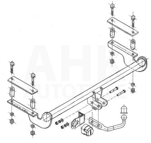 Für Opel Astra II G 4//5-Tür 98-09 Anhängerkupplung starr+E-Satz 7p