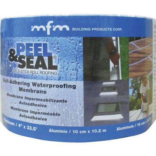 Aluminum Roofing Membrane Flashing Gutters X 33.5 Ft 3pk MFM Peel /& Seal 6 In