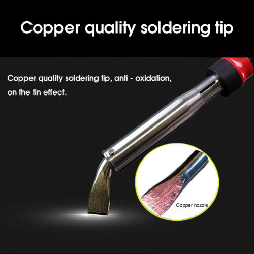 Electric Soldering Iron Welding Tool Kit Solder Wire Tweezers Set With LED  ~