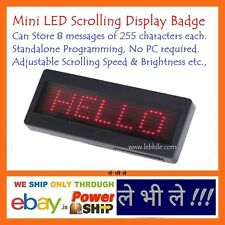 LED Programmable Scrolling Name Message Board Badge Tag Digital English Display