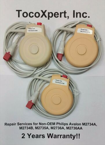 Philips M2734A Avalon Toco Transducer Repair $69 - 2 Year Warranty!