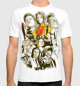 Tarantino-All-Movies-Men-039-s-Women-039-s-Art-T-shirt-Pulp-Fiction-Kill-Bill-Tee