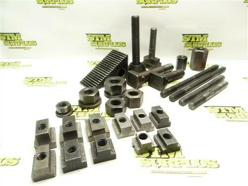 LARGE LOT OF HOLD DOWN ACESSORIES STUDS COUPLER NUTS T -BLOCKS STEP BLOCK