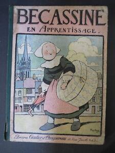 Antik Bd Becassine IN Lernspiel 1926 die Woche von Suzette Old Child Book