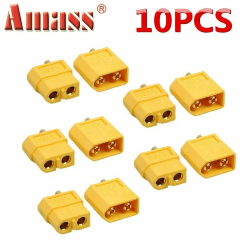 5 Pairs XT60 Male//Female Bullet Connectors Power Plugs For RC Lipo Battery Motor