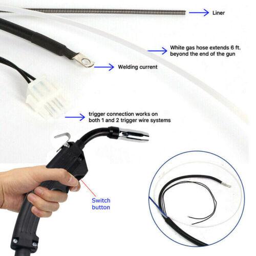 14AK Electric Replacement Mig Torch Welder Complete Welding Gun Parts 2.5M//3M//4M