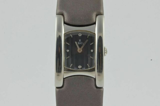 Ebel Beluga Cuff Women's Watch Steel Quartz 9057A21 with Leather Band 3