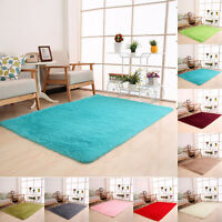 Fluffy Rugs Anti-skid Shaggy Area Colorful Carpet Dining Room Bedroom Floor Mat