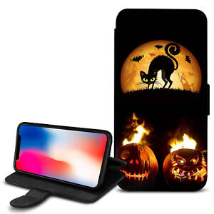 Halloween-Theme-PU-Leather-Wallet-Case-Cover-For-Top-Mobiles-18