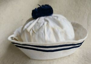 Marine-Cap-Navy-Cap-Marine-Hat-For-ca-15-16-1-2in-Bears-Handarbeit-Shabby