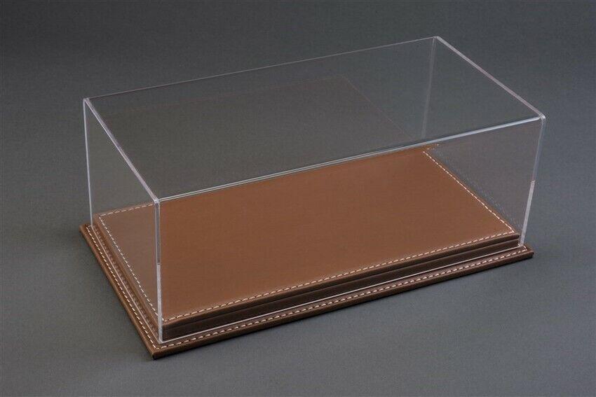Mulhouse Display Case Vetrina W  braun Leather Base for 1 12 Models