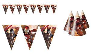 Civil War Captain America Marvel Avengers Party