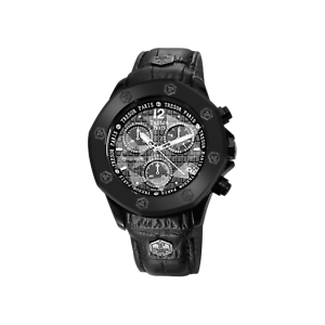 PRECISION-CHRONOGRAPH-44MM-WATCH-BLACK-LEATHER-BLACK-DIAL-WITH-FOUR-DIAMONDS