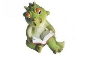 Miniature-Dollhouse-FAIRY-GARDEN-Dragon-Reading-Accessories